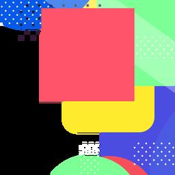 Fundo de formas geométricas coloridas