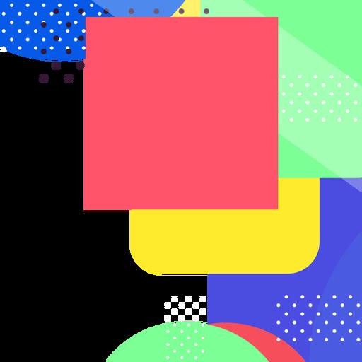 Fondo de formas geométricas coloridas Transparent PNG