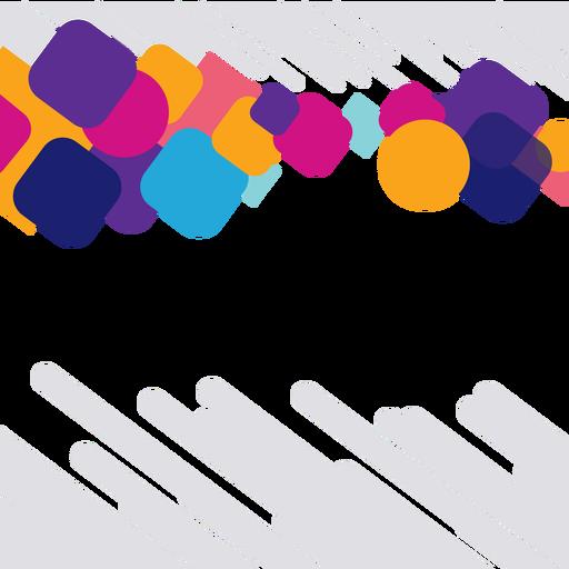 Fondo de círculos y cuadrados coloridos