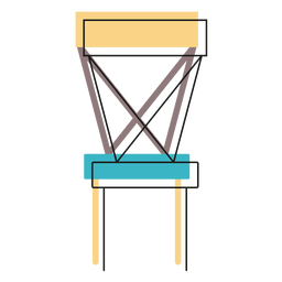Cross back chair icon