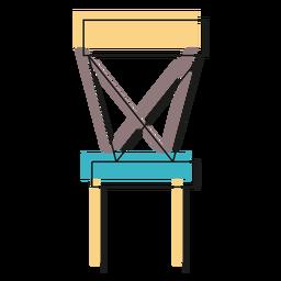 Icono de la silla trasera cruzada