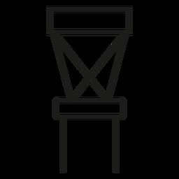 Cruzar el icono de trazo silla