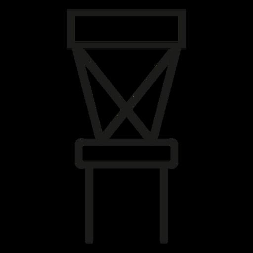Cruzar el icono de trazo silla Transparent PNG