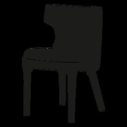 Icono plano de silla de respaldo curvo