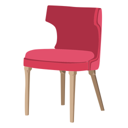Icono de silla con respaldo curvo