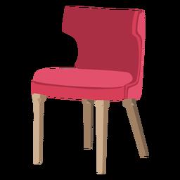 Icono de silla trasera curvada