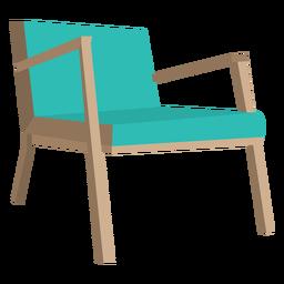 Dibujos animados de la silla danesa de mediados del siglo