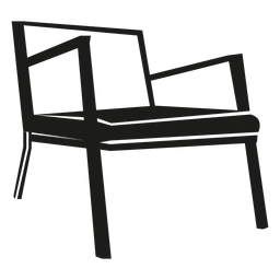Danish mid century chair icon