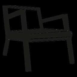 Icono de la silla danesa de mediados de siglo