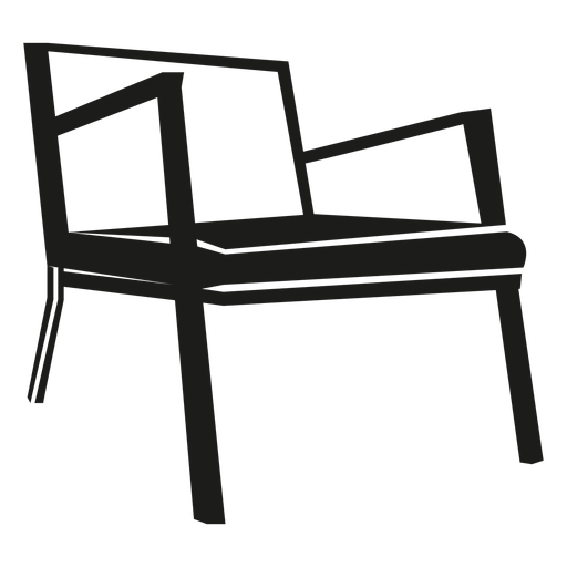 Danish mid century chair icon Transparent PNG