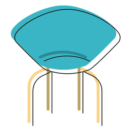 Designer chair icon