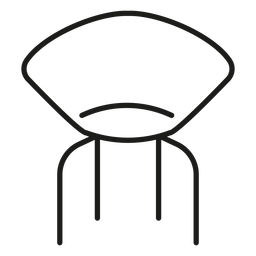 Designer chair stroke icon