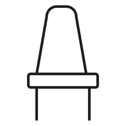 Dining chair stroke icon