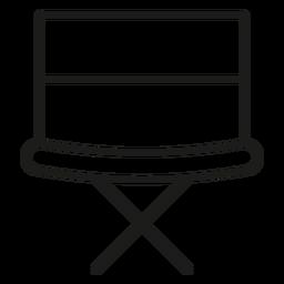 Icono de trazo de silla de director