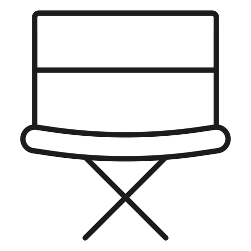 Director chair stroke icon Transparent PNG