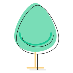 Drop chair icon