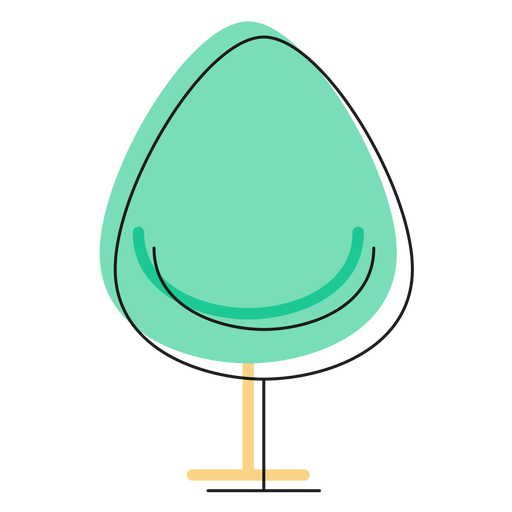 Drop chair icon Transparent PNG