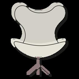 Icono de silla de huevo
