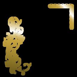 Fondo elegante flor dorada
