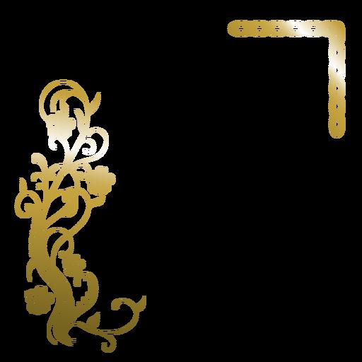 Elegant Golden Flower Background Transparent PNG