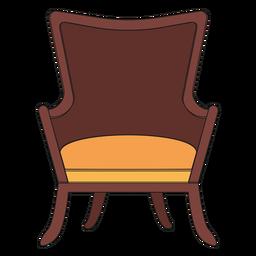 Fanback wing chair cartoon