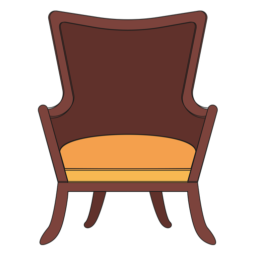 Fanback wing chair cartoon - Transparent PNG & SVG vector file