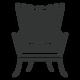 Icono plano de silla de ala de espalda