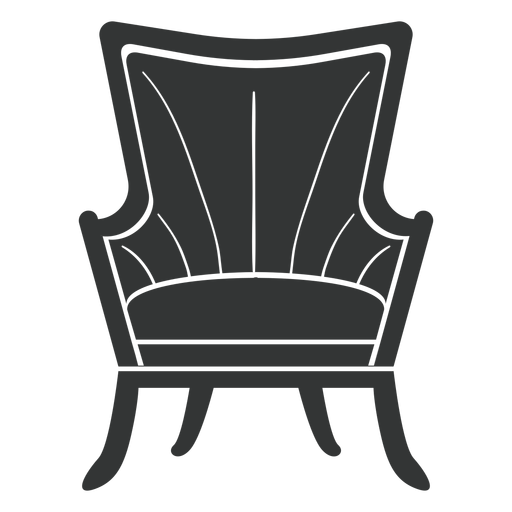 Fanback wing chair flat icon Transparent PNG