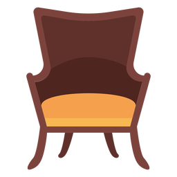 Fanback wing chair icon