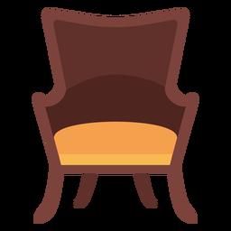 Icono de silla de ala de espalda