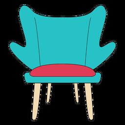 Desenhos animados de cadeira de moda