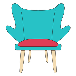 Fashion chair cartoon
