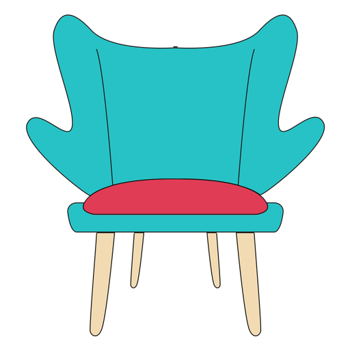 Fashion chair cartoon Transparent PNG
