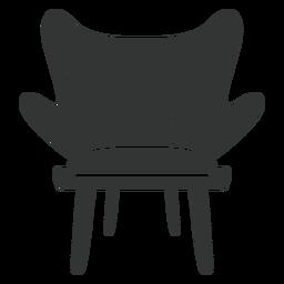 Icono plano de silla de moda
