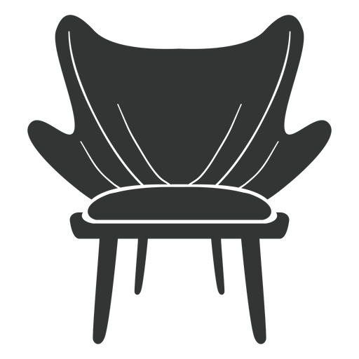 Fashion chair flat icon Transparent PNG