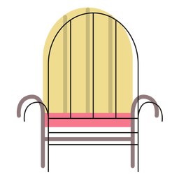 Iron armchair icon