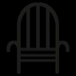 Icono de trazo de silla de hierro