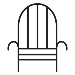 Iron chair stroke icon