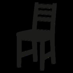 Icono de silla ladderback negro