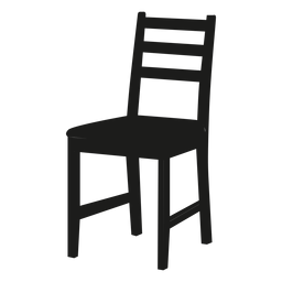 Ladderback chair black icon