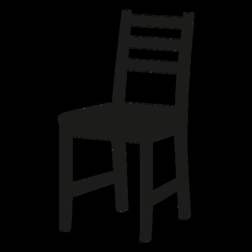 icono negro de la silla ladderback descargar png svg. Black Bedroom Furniture Sets. Home Design Ideas