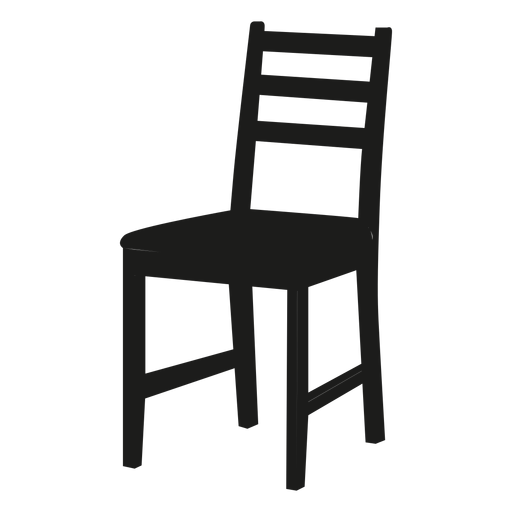Ladderback chair black icon transparent png svg vector for Designer stuhl transparent