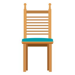 Ladderback chair cartoon
