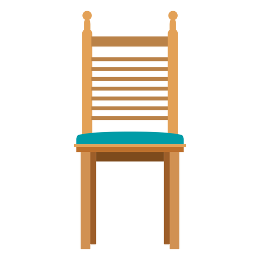 Ladderback chair cartoon Transparent PNG