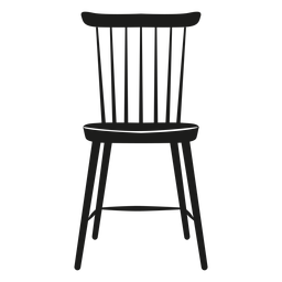Lath chair flat icon