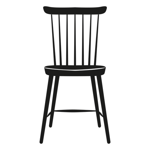 Lath chair flat icon Transparent PNG