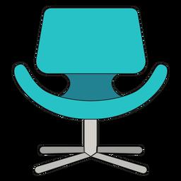 Desenhos animados de cadeira pequena tulipa