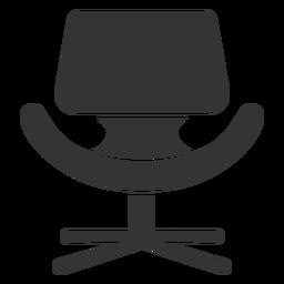 Pequeño icono de silla de tulipán plana