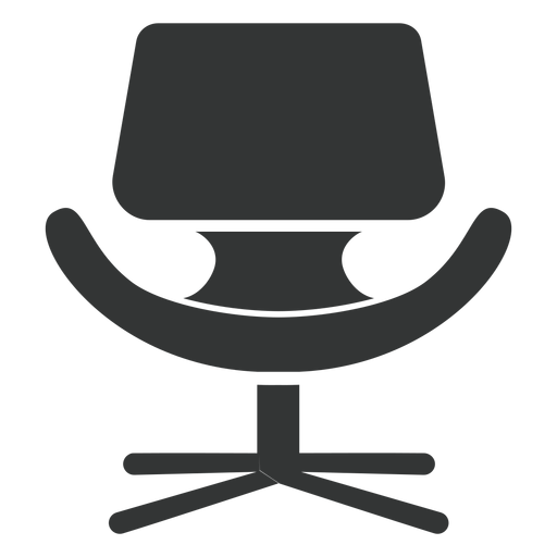 Little tulip chair flat icon Transparent PNG