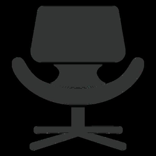 Pequeño icono de silla de tulipán plana Transparent PNG